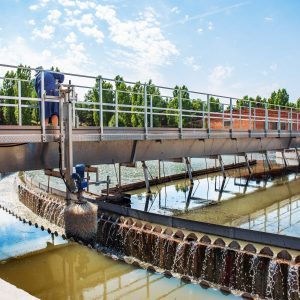 Modern,Urban,Wastewater,And,Sewage,Treatment,Plant,With,Aeration,Tanks,